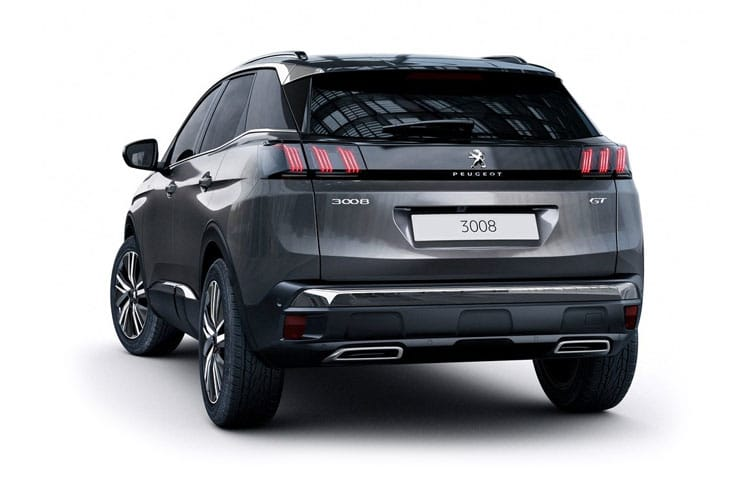 Peugeot 3008 SUV HYBRID4 1.6 PHEV 13.2kWh 300PS GT 5Dr e-EAT [Start Stop] back view