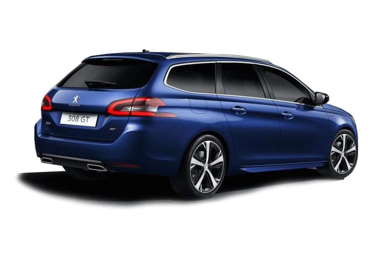 Peugeot 308 SW 5Dr 2.0 BlueHDi 180PS GT 5Dr EAT8 [Start Stop] back view