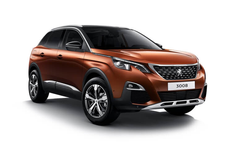 Peugeot 3008 SUV HYBRID 1.6 PHEV 13.2kWh 225PS Allure Premium 5Dr e-EAT [Start Stop] front view