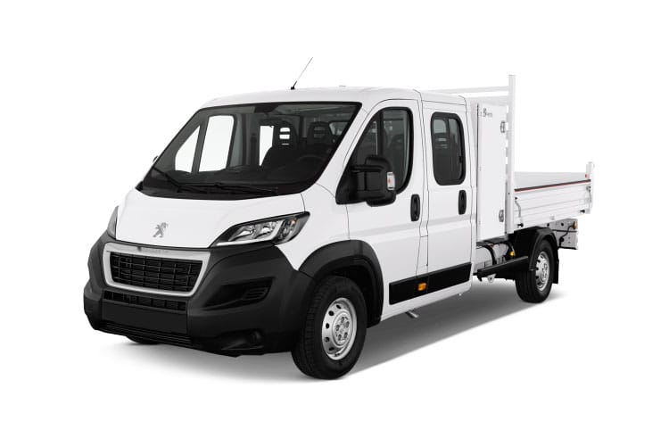 Peugeot Boxer 335 L3 2.2 BlueHDi FWD 140PS Built for Business Plus Tipper Double Cab Manual [Start Stop] front view
