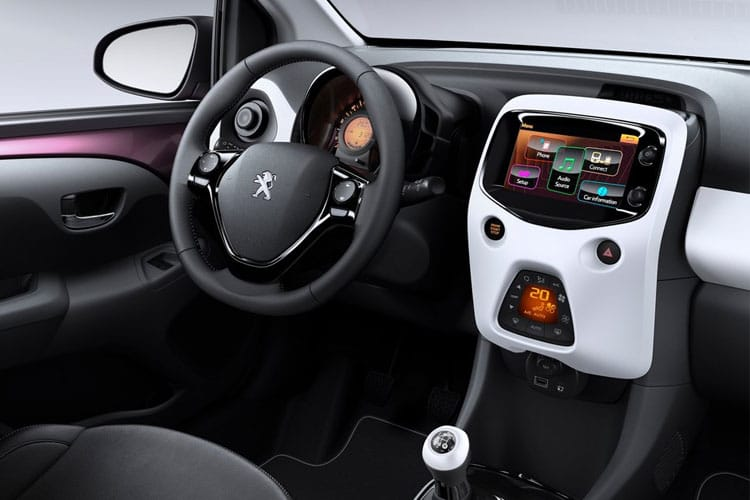 Peugeot 108 Top! 5Dr 1.0  72PS Allure 5Dr Manual [Start Stop] inside view